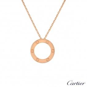 Cartier Rose Gold Plain Love Necklace B7014400